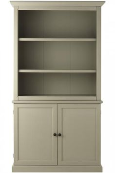 Martha Stewart Living™ Ingrid Bookcase with Doors - Bookcase Cabinet - Open Bookcase With Cabinet | HomeDecorators.com