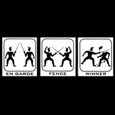 Winner! Repinned by Hub City Fencing Academy of Edison, NJ.