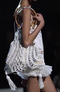 hairpin lace crochet purse