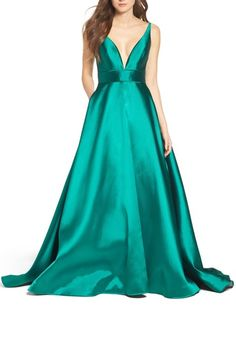 Ieena for Mac Duggal Plunging Sweetheart Neck Ballgown available at #Nordstrom