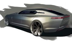 The Lincoln MKF Concept is a study of a premium sedan for the year The author is CCS transportation design student Brian Malczewski. Car Design Sketch, Car Sketch, Mercedes Cls, Industrial Design Sketch, Rear Wheel Drive, Vintage Trailers, Bike Design, Transportation Design, Automotive Design