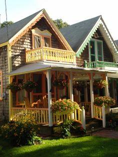 ✯ Gingerbread Houses, Martha's Vineyard, MA