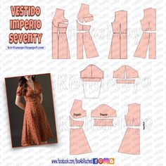Dress Sewing Patterns, Clothing Patterns, Fashion Sewing, Diy Fashion, Make Your Own Clothes, Diy Dress, Diy Shirt, Sewing Clothes, Pattern Fashion