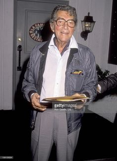 Actor/Singer Dean Martin on August 14, 1990 dining at La Famiglia Restaurant in Beverly Hills, California.