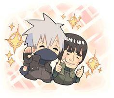 Kakashi and Gai Naruto Kakashi, Naruto Shippuden, Boruto, Naruhina, Hatake Clan, Chibi, Ninja, Naruto Family, Team 7
