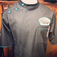 Custom soft denim barber smock #sartorandvillain #custommade #smock #barber #barbershop