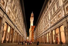 The Uffizi Gallery is a museum in Florence, Italy. It is one of the oldest and most famous art museums of the Western world.  All Aboard Italy, a journey by rail  - visit AAA Vacations®   Picture courtesy of General Tours  Location: Florence, Italy