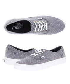 Chambray polka dot Vans. Perfection.