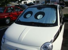 "Luigi from Pixar's ""Cars"" Fiat Sun Shade.  Gotta have it!"