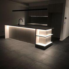 Rgb Led Strip Lights, Led Light Strips, Strip Lighting, Kitchen Counter Inspiration, Under Counter Lighting, Wardrobe Lighting, Cupboard Storage, Color Changing Led, Modular Design