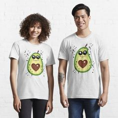 Cute Avocado, Most Beautiful, Essentials, T Shirts For Women, Fitness, Tops, Boutique, Design, Fashion