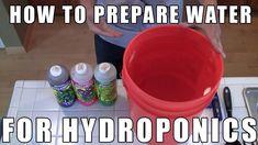 "Hydroponic Gardening Ideas ""How to Prepare Water for Hydroponics"" by Epic Gardening - Aquaponics System, Hydroponic Farming, Hydroponic Growing, Aquaponics Diy, Growing Plants, Aquaponics Greenhouse, Backyard Greenhouse, Greenhouse Ideas, Homemade Hydroponics"