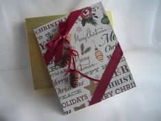 Boxed Card Christmas One of a Kind Card Gift Card by handcraftusa