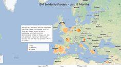 Mientra 15-M era inspirado por Islandia y muchas demostraciones históricos, los indignados también inspiró a muchos movimientos similares por todo Europa, además del movimiento Occupy Wall Street de los Estados Unidos.