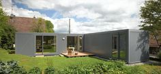 L shaped shipping container plan - Google Search