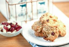 Whole Wheat Oatmeal Cranberry White Chocolate Cookies