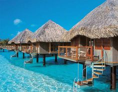 The Transpa Floors Of Over Water Bungalows At Le Merin Bora Offer