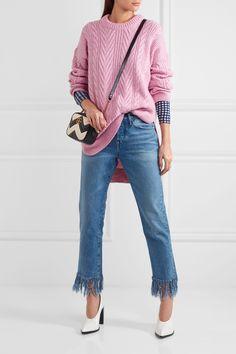 J.Crew | Norton cable-knit cashmere and mohair-blend tunic | NET-A-PORTER.COM
