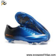 New Nike Mercurial Vapor IX FG Blue Black Orange Crampons 2997f50bb0