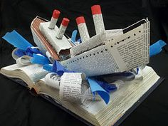 Titanic Altered Book - Hoover High School Student (More on blog)