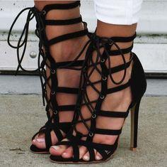 Black suede cross-tied lace up high heel sandals peep toe stiletto heel cut-outs dress sandal summer booties sandalia feminina