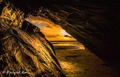Sunset Through Cave - Porthmadog North Wales [2048  1317]...