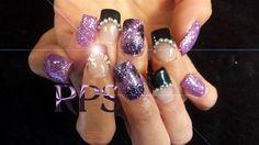 Purple and Black by RedPlatinum - Nail Art Gallery nailartgallery.nailsmag.com by Nails Magazine www.nailsmag.com #nailart