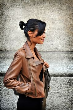 Trendy Mondays Blog: Fall Trend - brown leather jackets