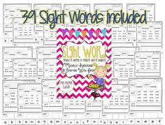 FREE!! 39 pages of Pre-Primer Sight Word practice