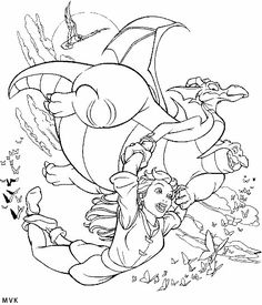 Quest for Camelot coloring page