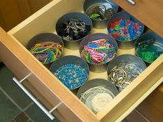 Tuna cans.... 30 Great Ideas for Upcycled Storage   Interior Design Styles and Color Schemes for Home Decorating   HGTV
