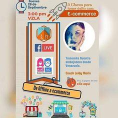 @publiciudadmcy y  @met2het2international te invitan a este Facebook Live.  Nuestra Embajadora desde #venezuela la Coach @leidymarin nos hablará de la 5 claves para tener éxito en Ecommerce te esperamos por aquí  http://ift.tt/2y8iOqn el Jueves a las 3:00 pm.  #recomendado.  #ecommerce #exito #coaching #facebook #flive #emprendedores #negocios #tips #asesoria #publicidad #publiciudadmcy #alianza #internacional #republicadominicana #españa #miami #Argentina #Ecuador #peru #colombia #valencia…