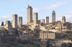 The skyline of the medieval town of San Gimignano