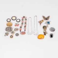 Group of Jewelry Including Micromosaics and an Art Deco Cockatiel (9/6/2014 - Cleveland Inaugural Auction: Live Salesroom Auction)