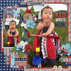 {Red, White, and Blue} by Little Rad Trio http://store.gingerscraps.net/Red-White-and-Blue-full-kit.html and {My Life In Photobook 15} by Tinci Designs http://store.gingerscraps.net/My-life-in-photobook-15..html