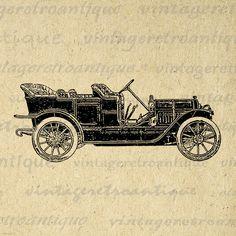 Printable Antique Car Image Download by VintageRetroAntique