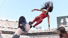 AJ Lee and Paige vs. The Bella Twins: photos   WWE.com