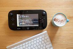 Wii Uとキーボードとコーヒー