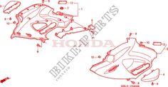 CARENAGE MILIEU Honda moto microfiche NT650V2 2002 DEAUVILLE 650