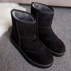 26.71$  Watch here - http://di8zm.justgood.pw/go.php?t=200059006 - Flat Heel Engraving Flock Snow Boots