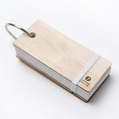 wooden ring of vocabulary flash cards laser cut in cedar thinning of Japan