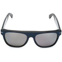 Retro Super Future Flat Top Sunglasses ($169) ❤ liked on Polyvore