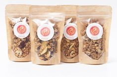 "54 Likes, 3 Comments - Happy Granola (@eathappygranola) on Instagram: ""Granola to go anyone?? We can't wait to send these mini packs you! They will be available in 12 and…"""