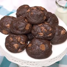 Delicious Soft Double Chocolate Fudge Cookies – Yup Foodie – Join in the world Delicious Cookie Recipes, Yummy Treats, Baking Recipes, Cake Recipes, Dessert Recipes, Yummy Food, Chocolate Fudge Cookies, Chocolate Recipes, Chocolate Chocolate