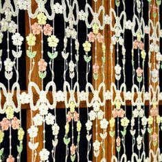 Macrame Lace Cafe Curtains Lace Valances, Curtain Lights, Lacemaking, Cafe Curtains, Macrame, Daisy, Pattern, Margarita Flower, Patterns