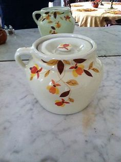 hall china autumn leaf
