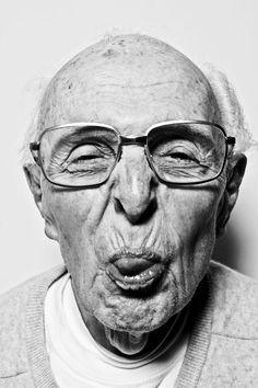 .granny, that man is making obscene gestures at you, i think you should go say 'hi'