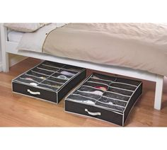 Buy HOME 2 Underbed Shoe Storage Boxes with Lid at Argos.co.uk, visit Argos.co.uk to shop online for Shoe storage, Storage, Home and garden