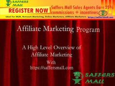 You are looking for Affiliate Marketing Program. Saffers Mall providing Opportunities for Affiliate Marketing Program at affordable price, with the number of various .