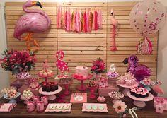 Flamingo Birthday Party Idea-Festa De Flamingos Essencia Festeira